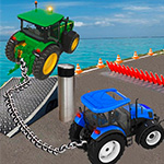 Chanined Tractor Towing Simulator