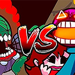 FNF: Tricky vs Whitty Mad Overload Madness x Ballistic