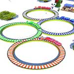 Lowpolly Train Racing