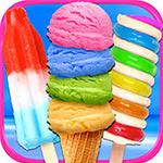 Rainbow Ice Cream And Popsicles
